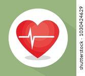 heart cardio healthy lifestyle   Shutterstock .eps vector #1030424629