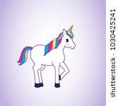 unicorn isolated on background. ... | Shutterstock .eps vector #1030425241