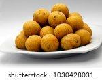 delicious cod dumpling  | Shutterstock . vector #1030428031