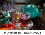 herbal tea from the viburnum... | Shutterstock . vector #1030429075