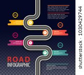 road top view infographics with ... | Shutterstock .eps vector #1030429744
