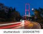 istanbul bosphorus bridge at... | Shutterstock . vector #1030438795
