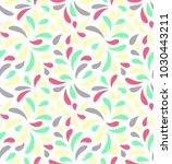 modern floral seamless vector... | Shutterstock .eps vector #1030443211