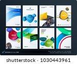 set of design brochure ... | Shutterstock .eps vector #1030443961