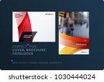 set of design brochure ... | Shutterstock .eps vector #1030444024
