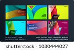 set of design brochure ... | Shutterstock .eps vector #1030444027