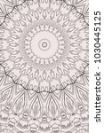 abstract monochrome mandala... | Shutterstock . vector #1030445125