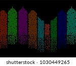 abstract colorful building of... | Shutterstock .eps vector #1030449265