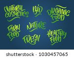 lettering set for natural... | Shutterstock .eps vector #1030457065
