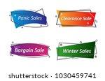 flat linear promotion ribbon...   Shutterstock .eps vector #1030459741