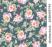 seamless summer pattern with... | Shutterstock . vector #1030459795