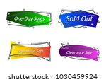 flat linear promotion ribbon... | Shutterstock .eps vector #1030459924
