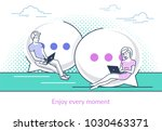 chat talk concept vector... | Shutterstock .eps vector #1030463371