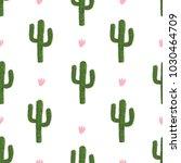 seamless cactus pattern. vector ... | Shutterstock .eps vector #1030464709
