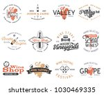 wine logos  labels set. winery... | Shutterstock .eps vector #1030469335