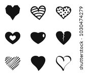 small heart icons set. simple... | Shutterstock .eps vector #1030474279