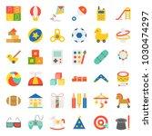 children toy such as ball ... | Shutterstock .eps vector #1030474297