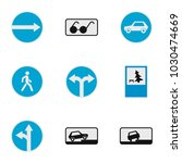guide sign icons set. flat set... | Shutterstock .eps vector #1030474669