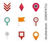 indication icons set. flat set... | Shutterstock .eps vector #1030474711