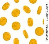 vector image of euro coins... | Shutterstock .eps vector #1030476595