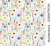 spring blossom pattern | Shutterstock .eps vector #1030479154