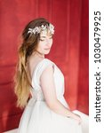 young beautiful bride with a...   Shutterstock . vector #1030479925