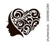 beautiful female face... | Shutterstock .eps vector #1030481284
