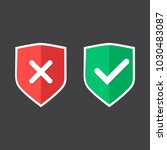 shields and check marks icons... | Shutterstock .eps vector #1030483087