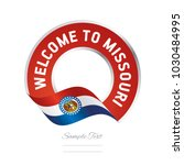 welcome to missouri usa flag... | Shutterstock .eps vector #1030484995