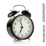 old style alarm clock isolated... | Shutterstock . vector #1030490329