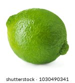 single ripe lime isolated on... | Shutterstock . vector #1030490341