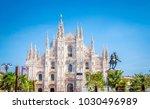 cathedral duomo di milano  in... | Shutterstock . vector #1030496989