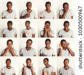 young african american man... | Shutterstock . vector #1030500967