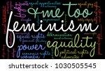 feminism word cloud on a black... | Shutterstock .eps vector #1030505545