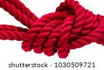 colorful vivid red thick rope... | Shutterstock . vector #1030509721