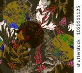 autumn seamless pattern of wild ... | Shutterstock .eps vector #1030511125