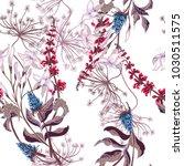 spring seamless pattern of wild ... | Shutterstock .eps vector #1030511575