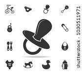 pacifier icon. set of child and ... | Shutterstock .eps vector #1030511971