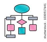 diagram flow chart connection... | Shutterstock .eps vector #1030517641