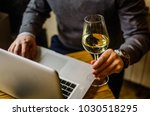 wine and work | Shutterstock . vector #1030518295