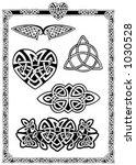 celtic vector art collection | Shutterstock .eps vector #1030528