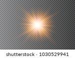 vector transparent sunlight... | Shutterstock .eps vector #1030529941