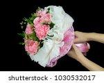 bouquet of pink carnation... | Shutterstock . vector #1030532017
