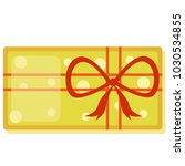 a big yellow new year's gift... | Shutterstock .eps vector #1030534855