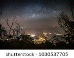 framing of milkyway over the... | Shutterstock . vector #1030537705