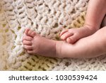 portrait of baby feet | Shutterstock . vector #1030539424