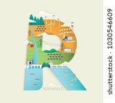 renewable energy in r letter... | Shutterstock .eps vector #1030546609