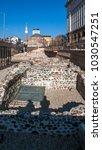 Small photo of SOFIA, BULGARIA - DECEMBER 20, 2016: Banya Bashi Mosque and ruins of ancient Serdica in Sofia, Bulgaria