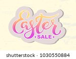 easter sale text isolated on... | Shutterstock .eps vector #1030550884