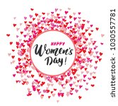 happy women's day greeting card ... | Shutterstock .eps vector #1030557781